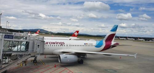 Flugzeug in Zürich