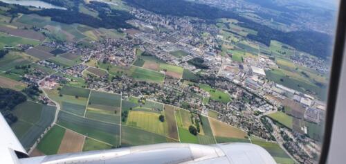 Aussicht aus dem Flugzeug